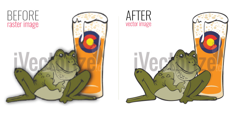 Image of a toad, vectorized by iVectorize.com vector service